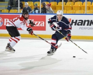 Newhook's shootout marker wins game for Canada West