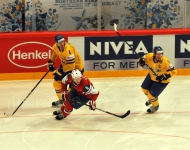 Sweden beats Norway in half full Globe Arena
